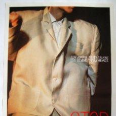 Cine: POSTER ORIGINAL USA / 1984 / TALKING HEADS / STOP MAKING SENSE / DAVID BYRNE. Lote 120353243