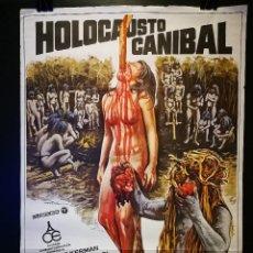 Cine: ORIGINAL POSTER CARTEL DE CINE HOLOCAUSTRO CANIBAL 70 X 100. Lote 120395415