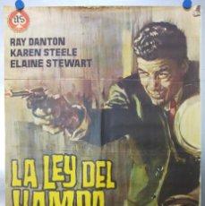 Cine: LA LEY DEL HAMPA. RAY DANTON, KAREN STEELE. AÑO 1965. Lote 120410751