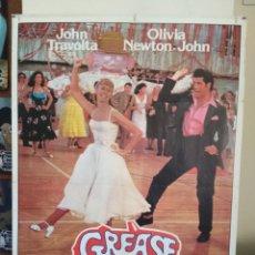 Cine: GREASE JOHN TRAVOLTA OLIVIA NEWTON JOHN POSTER ORIGINAL 70X100. Lote 172028398