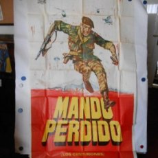 Cine: MANDO PERDIDO - CARTEL ORIGINAL 3 HOJAS DE 70 X 100. Lote 120417699