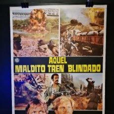 Cine: ORIGINAL POSTER CARTEL DE CINE AQUEL MALDITO TREN BLINDADO 70 X 100. Lote 120428551