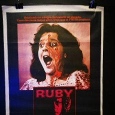 Cine: ORIGINAL POSTER CARTEL DE CINE RUBY 70 X 100. Lote 120430703