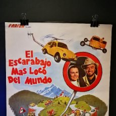 Cine: ORIGINAL POSTER CARTEL DE CINE EL ESCARABAJO MAS LOCO DEL MUNDO 70 X 100. Lote 120436167