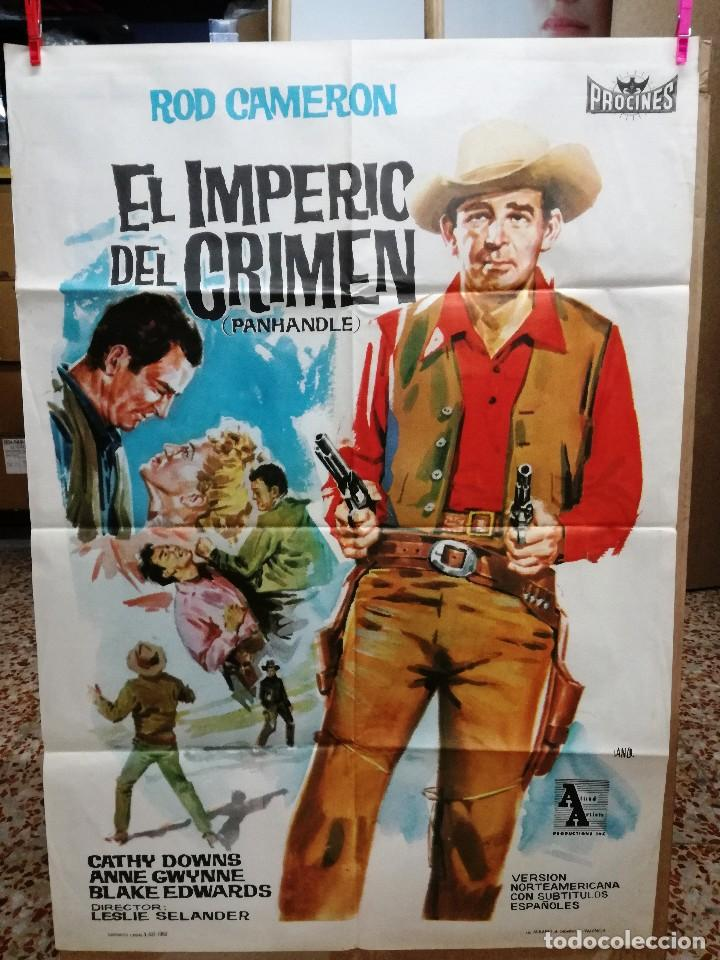EL IMPERIO DEL CRIMEN .ROD CAMERON CATHY DOWNS POSTER ORIGINAL 70X100 ESTRENO.1963. (Cine - Posters y Carteles - Westerns)