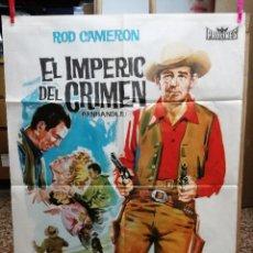 Cine: EL IMPERIO DEL CRIMEN .ROD CAMERON CATHY DOWNS POSTER ORIGINAL 70X100 ESTRENO.1963.. Lote 199043657