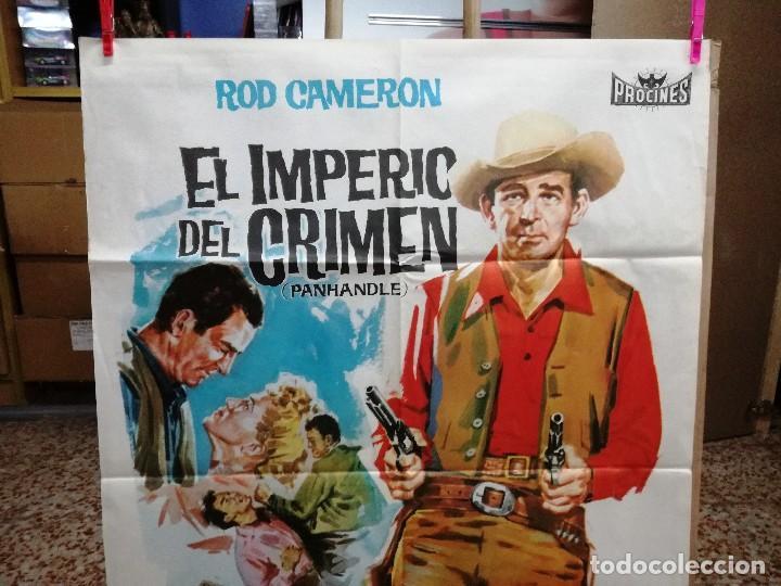 Cine: EL IMPERIO DEL CRIMEN .ROD CAMERON CATHY DOWNS POSTER ORIGINAL 70X100 ESTRENO.1963. - Foto 3 - 199043657