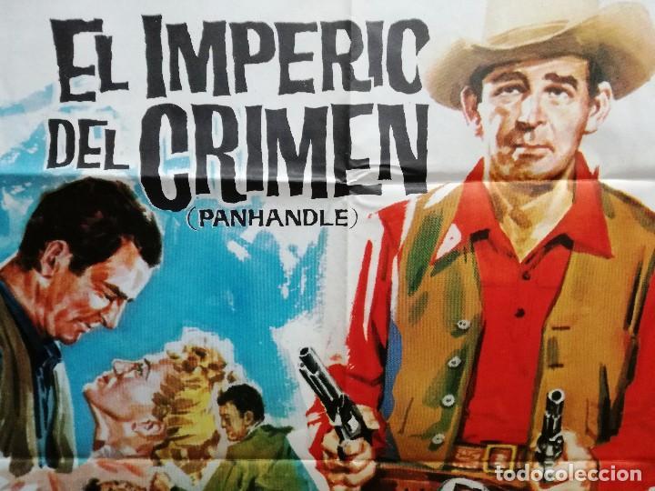 Cine: EL IMPERIO DEL CRIMEN .ROD CAMERON CATHY DOWNS POSTER ORIGINAL 70X100 ESTRENO.1963. - Foto 4 - 199043657