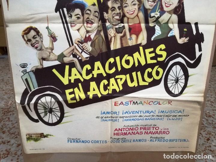 Cine: VACACIONES EN ACAPULCO ANTONIO AGUILAR ARIADNA WELTER POSTER ORIGINAL 70X100 ESTRENO - Foto 2 - 120439303