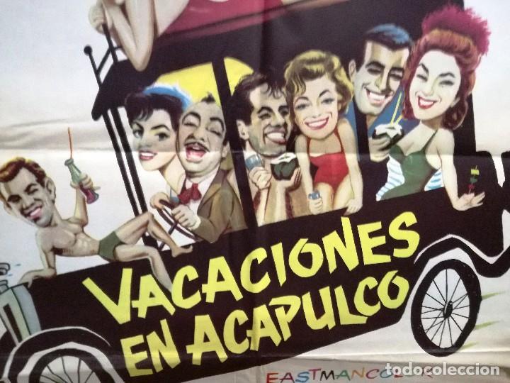 Cine: VACACIONES EN ACAPULCO ANTONIO AGUILAR ARIADNA WELTER POSTER ORIGINAL 70X100 ESTRENO - Foto 4 - 120439303