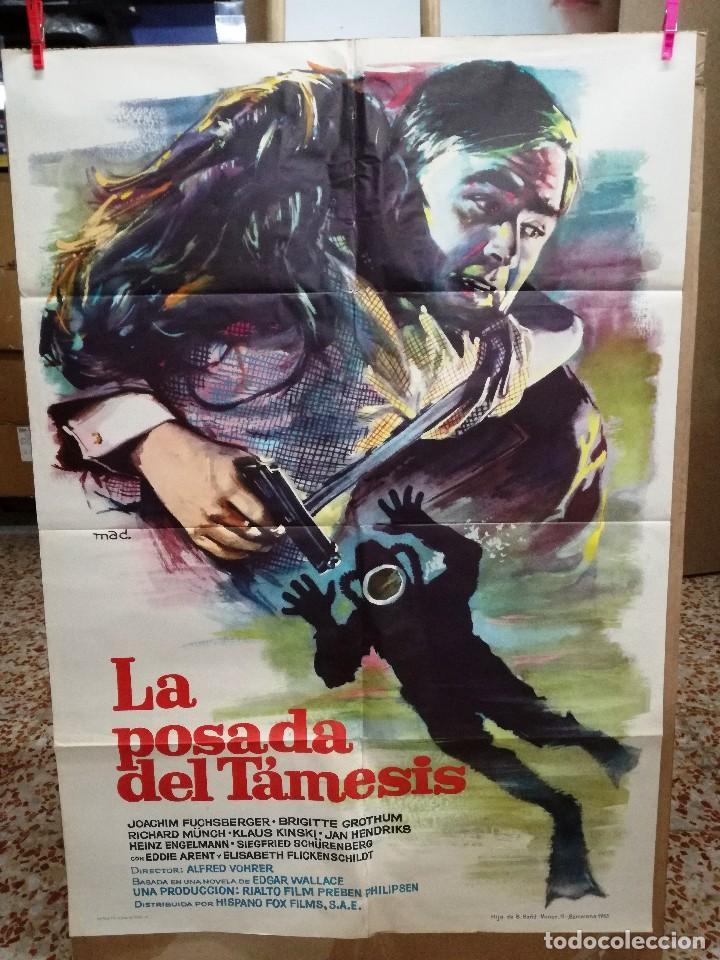 LA POSADA DEL TAMESIS- EDGAR WALLACE SUBMARINISMO MAC POSTER ORIGINAL 70X100 ESTRENO-1963 (Cine - Posters y Carteles - Suspense)