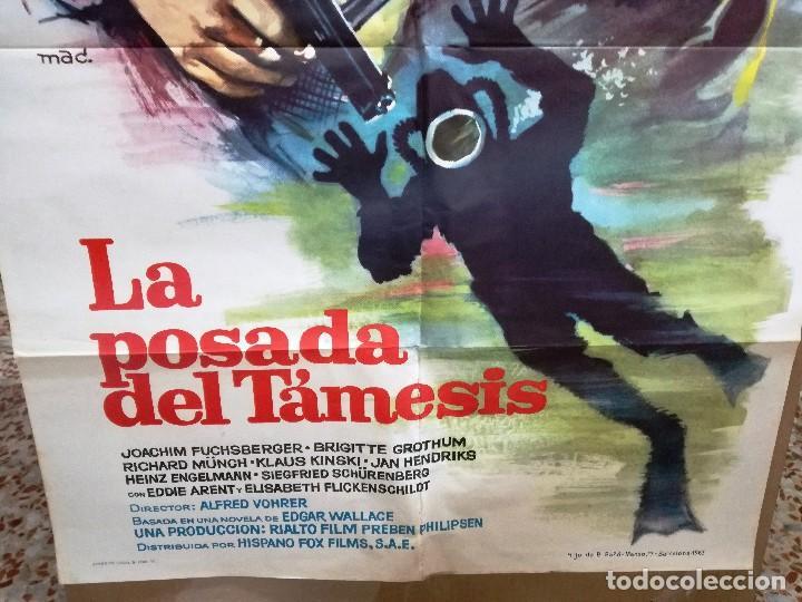 Cine: LA POSADA DEL TAMESIS- EDGAR WALLACE SUBMARINISMO MAC POSTER ORIGINAL 70X100 ESTRENO-1963 - Foto 2 - 198093860