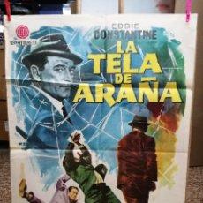 Cine: LA TELA DE ARAÑA EDDIE CONSTANTINE POSTER ORIGINAL 70X100 DE ESTRENO-1963. Lote 120442719