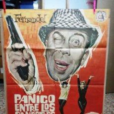 Cine: PANICO ENTRE LOS GANGSTERS - FERNANDEL, PERRETTE PRADIER-1964 100X70 CM. Lote 120445167
