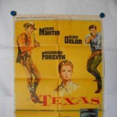 Cine: TEXAS - DEAN MARTIN - 1967 - CARTEL ORIGINAL 70 X 100. Lote 120451775