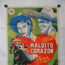 Cine: MALDITO CORAZON - CARTEL ORIGINAL LITOGRAFICO 70 X 100. Lote 120454479
