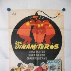 Cine: LOS DINAMITEROS - CARTEL ORIGINAL 70 X 100. Lote 120455751