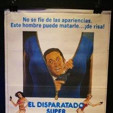 Cine: ORIGINAL POSTER CARTEL DE CINE EL DISPARATADO SUPER AGENTE 86 70 X 100. Lote 120481819