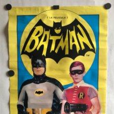 Cine: BATMAN: LA PELÍCULA (1966). CARTEL ORIGINAL PROMOCIONAL ESTRENO EN ESPAÑA 1979. 33,5 X 48 CMS.. Lote 120666486