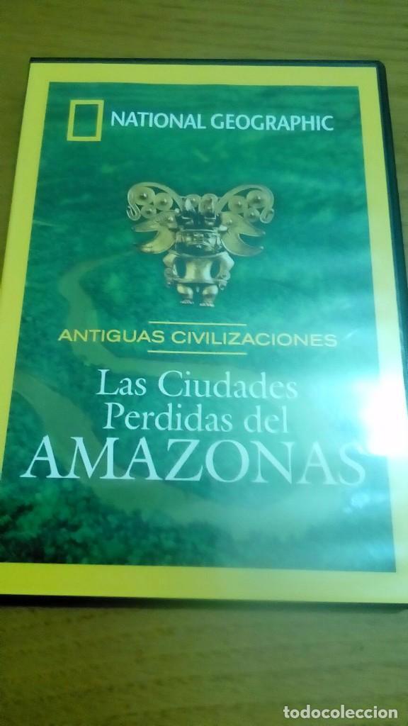 LAS CIUDADES PÉRDIDAS DEL AMAZONAS, ANTIGUAS CIVILIZACIONES, NATIONAL GEOGRAPHIC (Cine - Posters y Carteles - Documentales)