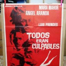 Cine: TODOS ERAN CULPABLES MARIA MAHOR LUIS PRENDES LEON KLIMOVSKY POSTER ORIGINAL 70X100 DEL ESTREN. Lote 120762643