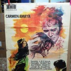 Cine: LOS TARANTOS 1963 ORIGINAL CARMEN AMAYA ; ROVIRA BELETA 100X70 ESTRENO DISEÑO JANO. Lote 120763119