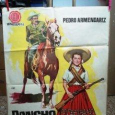Cine: PANCHO VILLA Y LA ADELITA 1962, CARTEL DE CINE ORIGINAL 100X070 CM. Lote 120763811