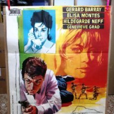 Cine: MISION EN EL ESTRECHO GERARD BARRAY POSTER ORIGINAL 70X100 DE ESTRENO. Lote 120763955