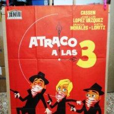 Cine: ATRACO A LAS 3 FORQUE CASSEN LANDA LOPEZ VAZQUEZ POSTER ORIGINAL 70X100 DEL ESTRENO. Lote 120764055
