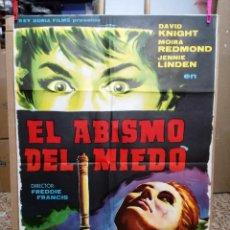Cine: EL ABISMO DEL MIEDO NIGHTMARE HAMMER FREDDIE FRANCIS POSTER ORIGINAL DEL ESTRENO 70X100. Lote 120764203
