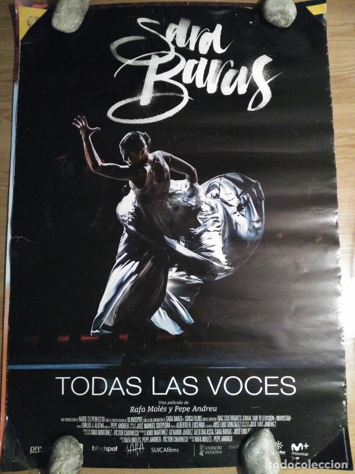 SARA BARAS - APROX 70X100 CARTEL ORIGINAL CINE (L57) (Cine - Posters y Carteles - Musicales)