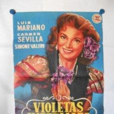 Cine: VIOLETAS IMPERIALES - CARTEL LITOGRAFICO ORIGINAL 70 X 100. Lote 121124095