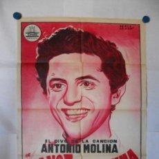 Cine: ESTA VOZ ES UNA MINA - PERIS ARAGO 1958 - ANTONIO MOLINA - CARTEL LITOGRAFICO ORIGINAL 70 X 100. Lote 121125671