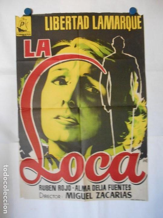 LA LOCA - CARTEL LITOGRAFICO ORIGINAL 70 X 100 (Cine - Posters y Carteles - Acción)