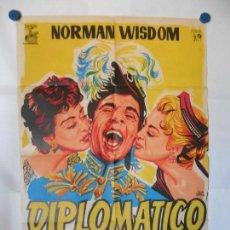 Cine: DIPLOMATICO ULTIMO MODELO - CARTEL LITOGRAFICO ORIGINAL 70 X 100. Lote 121126867