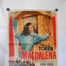 Cine: MAGDALENA - CARTEL LITOGRAFICO ORIGINAL 70 X 100. Lote 121126991