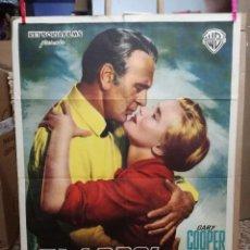 Cine: EL ARBOL DEL AHORCADO- GARY COOPER POSTER ORIGINAL ESPAÑOL 70X100 -AÑO 1959. Lote 121162695