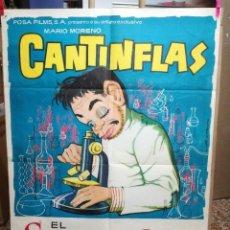 Cine: EL SUPERSABIO-CANTINFLAS 1963 CARTEL ORIGINAL-ORIGINAL FILM. Lote 145611421