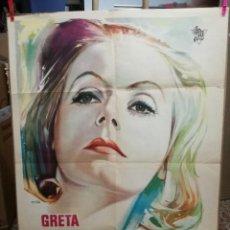 Cine: GRETA GARBO - NINOTCHKA - METRO GOLDWIN MAYER - 1963 - CARTEL ORIGINAL DE LA PELICULA. Lote 121165147