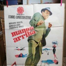 Cine: MANOS ARRIBA EDDIE CONSTANTINE RENATO RASCEL POSTER ORIGINAL 70X100 ESTRENO 1963. Lote 121166959