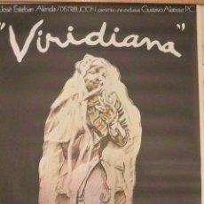 Cine: POSTER CARTEL VIRIDIANA LUIS BUÑUEL. CARTEL DE IVÁN DE ZULUETA. ORIGINAL. Lote 121240451