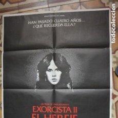 Cine: CARTEL POSTER CINE EL EXORCISTA 2 EL HEREJE. Lote 121248739