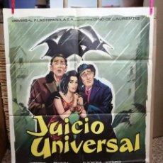 Cine: JUICIO UNIVERSAL. VITTORIO DE SICA-SILVANA MANGANO-VITTORIO GASSMAN. CARTEL ORIGINAL 1963. 70X100. Lote 121270587