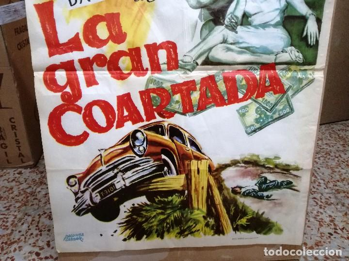 Cine: CARTEL LA GRAN COARTADA - ARTURO FERNANDEZ - MARISA DE LEZA - JOSE LUIS MADRID-100X70CM.AÑO 1963 - Foto 2 - 121271255