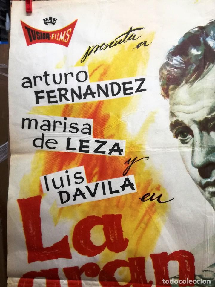 Cine: CARTEL LA GRAN COARTADA - ARTURO FERNANDEZ - MARISA DE LEZA - JOSE LUIS MADRID-100X70CM.AÑO 1963 - Foto 4 - 121271255