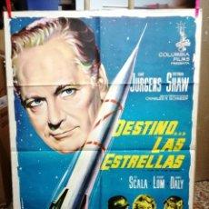 Cine: DESTINO LAS ESTRELLAS, , CURT JURGENS VICTORIA SHAW,100X70 AÑO 1960. Lote 176371380