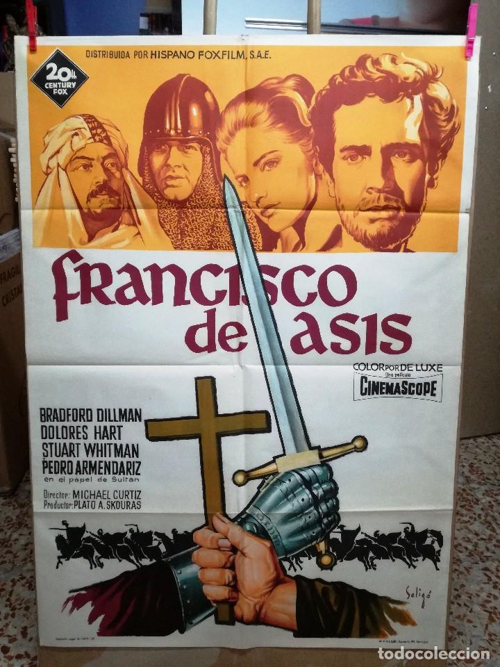 FRANCISCO DE ASIS BRADFORD DILLMAN SOLIGO POSTER ORIGINAL 70X100 ESTRENO (Cine - Posters y Carteles - Clasico Español)