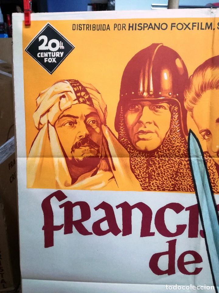 Cine: FRANCISCO DE ASIS BRADFORD DILLMAN SOLIGO POSTER ORIGINAL 70X100 ESTRENO - Foto 2 - 121274319