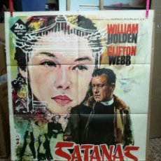 Cine: SATANAS NUNCA DUERME- WILLIAM HOLDEN CLIFTON WEBB POSTER ORIGINAL 70X100 ESTRENO.AÑO 1962. Lote 206178608