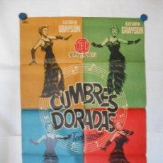 Cine: CUMBRES DORADAS - CARTEL LITOGRAFICO ORIGINAL 70 X 100. Lote 121289155